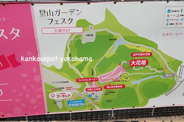 里山ガーデンの地図